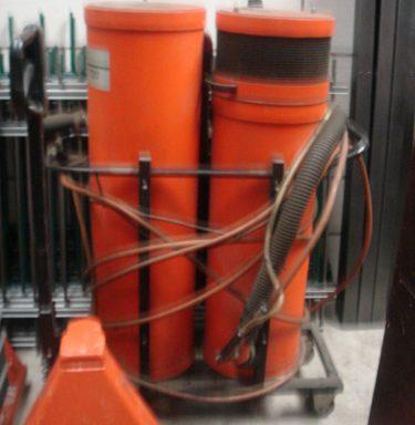 Arbas staalstraal apparaat